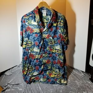 Disneyland Mickey Mouse Surf Hawaiian Shirt XL